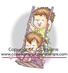 C.C.Designs sello de goma, Swingin