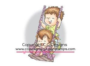 C.C.Designs Rubber stamp, Swingin