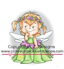 C.C.Designs Rubber stamp, Fairy Twila
