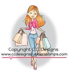 C.C.Designs Gummi Stempel, Shopping Erica