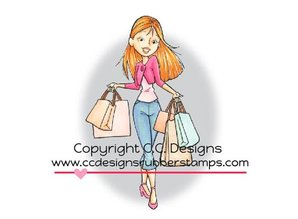 C.C.Designs Rubber stamp, shopping Erica