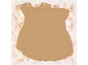 Objekten zum Dekorieren / objects for decorating Baby Album, 6 dele + tip Dekoband
