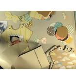 Objekten zum Dekorieren / objects for decorating Baby Album, 6 Teile + Dekoband