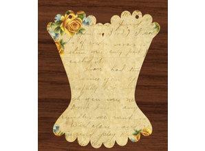 Objekten zum Dekorieren / objects for decorating Album, Vintage Corset, 6 parts