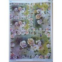 Diseño de la flor de papel decoupage