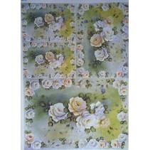 Decoupage papir roser Design