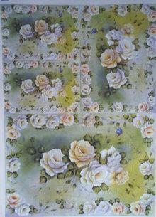 DECOUPAGE AND ACCESSOIRES Decoupage rosas de papel Diseño