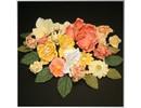 Embellishments / Verzierungen Papierblümchensortiment, orange, gelb, weiß