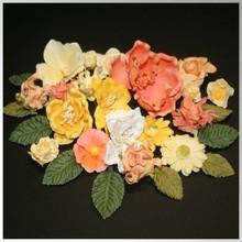 Embellishments / Verzierungen Papir blomster spænder