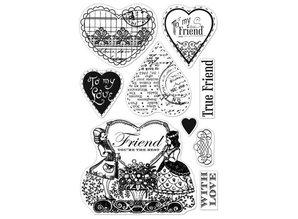 Stempel / Stamp: Transparent Gennemsigtige frimærker, Friendster Du er den bedste