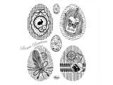 Viva Dekor und My paperworld timbre Transparent: Vintage Easter Eggs