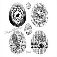 Viva Dekor und My paperworld sello transparente: Huevos de Pascua de la vendimia