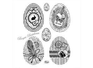 Viva Dekor und My paperworld Transparent stempel: Vintage påskeæg