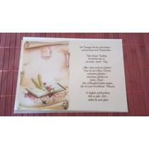 Gedichte auf Transparentpapier, Konfirmation