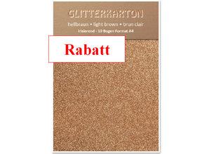 DESIGNER BLÖCKE  / DESIGNER PAPER Glitter karton, 10 ark 280gsm A4-format, lysebrun