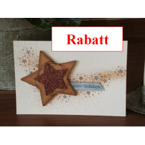 Glitter karton, 10 ark 280gsm A4-format, lysebrun