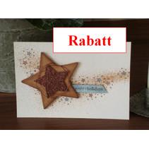 Glitter karton, 10 vellen 280gsm A4-formaat, licht bruin