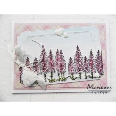 Marianne Design Transparent Stempel: Tiny's border, foxgloves