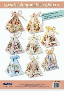 BASTELSETS / CRAFT KITS: Bastelset for 8 Gift pyramids at Easter