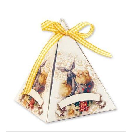 BASTELSETS / CRAFT KITS: Bastelset für 8 Geschenkpyramiden zu Ostern