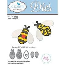Stanzschablonen: 2 Bienen