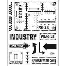 selo transparente: estilo industrial