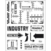 Transparant stempel: industriële stijl