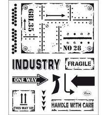 Viva Dekor und My paperworld timbro trasparente: stile industriale
