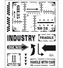 Viva Dekor und My paperworld Transparent stamp: Industrial Style