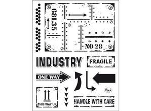 Viva Dekor und My paperworld Transparent stamp: Industrial Style