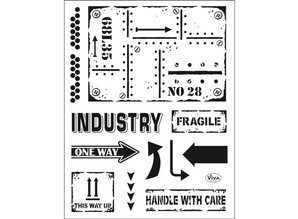 Viva Dekor und My paperworld Transparent Stempel: Industrial Style