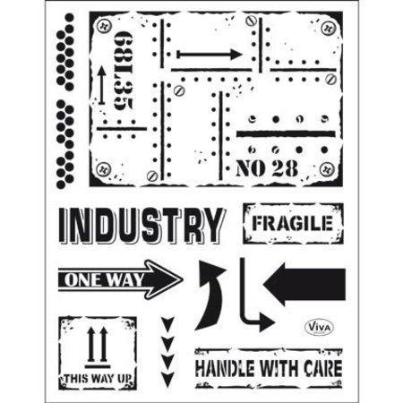 Viva Dekor und My paperworld Transparent stempel: Industriel stil