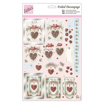 pretty heart motifs, punching bow with silver effect