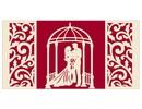 BASTELSETS / CRAFT KITS: Exclusivo emergente tarjetas de boda telón de fondo