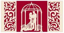 BASTELSETS / CRAFT KITS: Eksklusiv pop-up bryllup kort kulisse