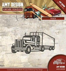 Amy Design Punching template: Trucks, Truck