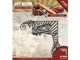 Amy Design plantilla de perforación: Aeronaves, Esquina de la vendimia