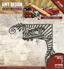 Amy Design Punching template: Aircraft, Vintage Corner