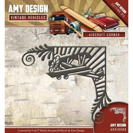 Amy Design Stanzschablone: Flugzeug, Vintage Ecke