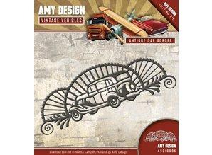 Amy Design plantilla de perforación: coches, Esquina de la vendimia