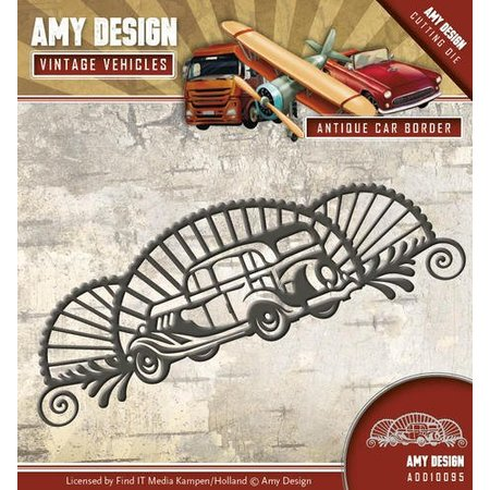 Amy Design Stanzschablone: Auto, Vintage Ecke