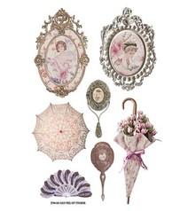 Embellishments / Verzierungen vintage designer Stickers: Lady Loves