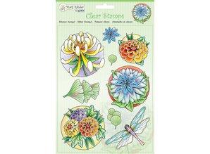 Stempel / Stamp: Transparent Gennemsigtige stempler: blomster og guldsmed