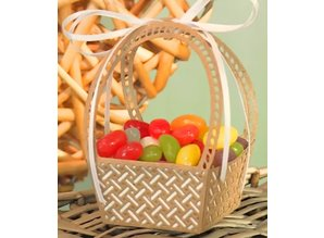 Creative Expressions Easter basket as a flower basket and picnic basket