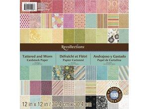 DESIGNER BLÖCKE  / DESIGNER PAPER Designerblock: recollections, 180 Bogen!
