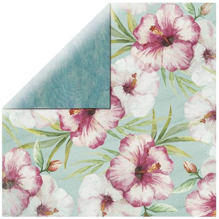 DESIGNER BLÖCKE  / DESIGNER PAPER Scrapbookingpapier rosada del hibisco
