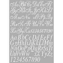 Universal-Schablone Buchstaben A4