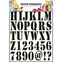 las letras y números de plantillas universales