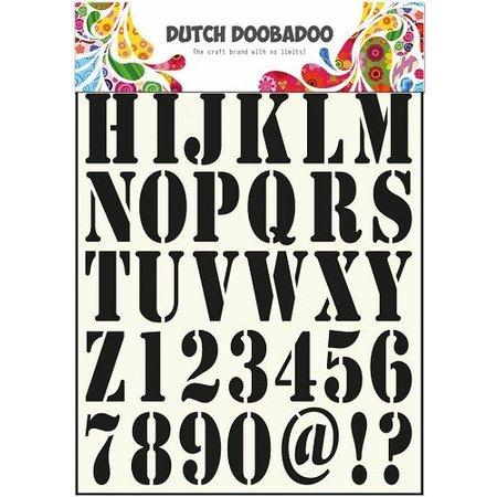 Dutch DooBaDoo Universal-Schablone Buchstaben und Zahlen