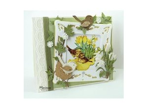 Marianne Design Punching template: Petra's square with nest